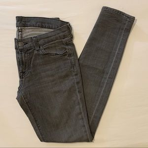 7 For All Mankind Gwenevere Gray Skinny Jeans